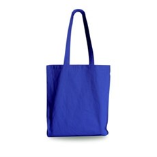Royal Blue Cotton Shopping Carrier Bags with Long Handle