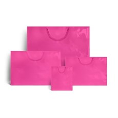 Shocking Pink Gloss Boutique Paper Bags