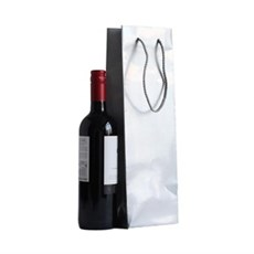 Silver Gloss Wine Bottle Gift Bags
