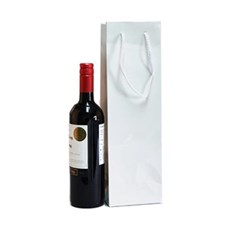 White Gloss Wine Bottle Gift Bags