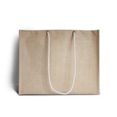 Natural Jute Bags with Long Rope Handles