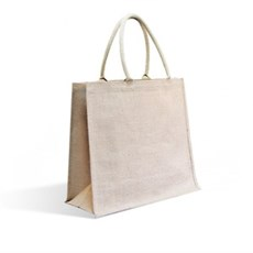 Natural Jute Bags with Padded Cotton Handles