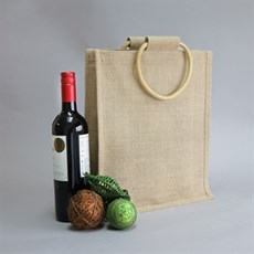 Three Bottle Jute Bags