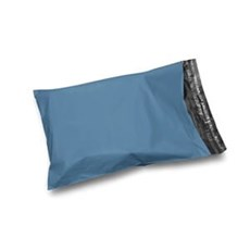 Metallic Blue Mailing Bags - Recycled Plastic