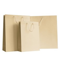 Cream Matt Boutique Paper Bags