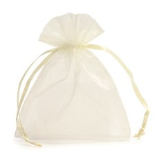 Ivory Organza Bags with Drawstring
