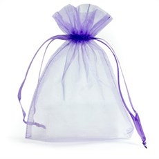 Lilac Organza Bags with Drawstring