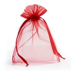 Red Organza Bags with Drawstring