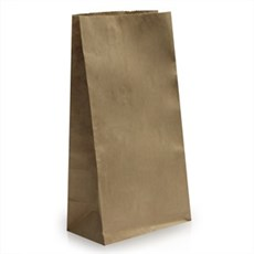 Block Bottom Brown Kraft Paper Bags
