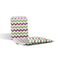 Green & Purple Chevron Paper Counter Bags