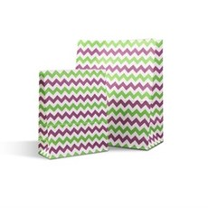 Green & Purple Chevron Pick n Mix / Popcorn Paper Bags