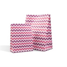 Shocking Pink & Purple Chevron Pick n Mix / Popcorn Paper Bags