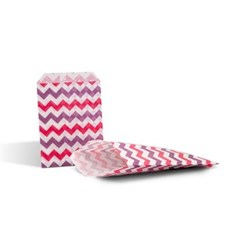Shocking Pink & Purple Chevron Paper Counter Bags