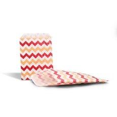 Red & Cream Chevron Paper Counter Bags