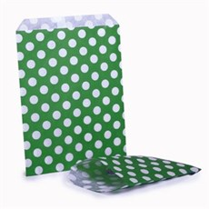 Green Polka Dot Paper Bags