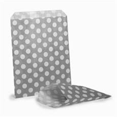 Grey Polka Dot Paper Bags