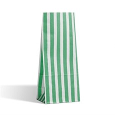 Green Stripe Pick n Mix Paper Bags