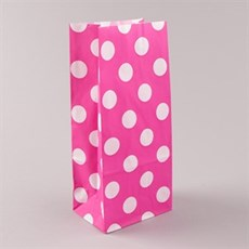 Shocking Pink Polka Dot Pick n Mix Paper Bags