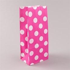 Shocking Pink Polka Dot Pick n Mix Paper Bags