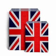 Union Jack Design Kraft Paper Bags
