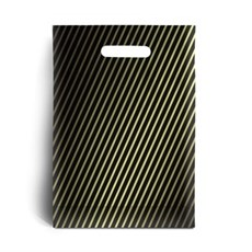 Black and Gold Stripe Plastic Carrier Bags