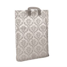 Loop Handle White Damask Plastic Carrier Bags