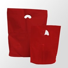 Red Premium Degradable Plastic Carrier Bags