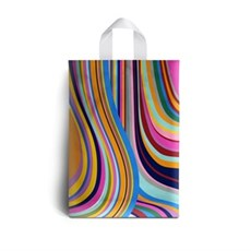 Loop Handle Seventies Design Plastic Carrier Bags