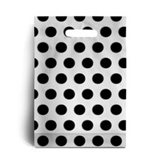 Standard Black Polka Dot Plastic Carrier Bags