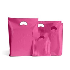 Shocking Pink Standard Grade Plastic Carrier Bags