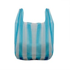 Striped Vest Style Carrier Bags