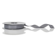 Black Candy Stripe Ribbon [142]