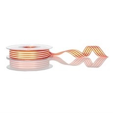 Orange Candy Stripe Ribbon [1407]