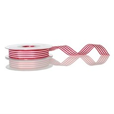 Red Candy Stripe Ribbon [117]
