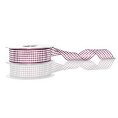 Burgundy Gingham Ribbon [405]