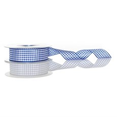 Royal Blue Gingham Ribbon [12]