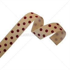 Cream Grosgrain Ribbon with Red Polka Dots [2]