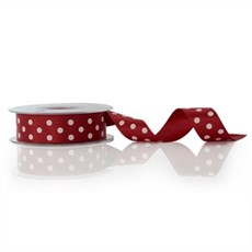 Red Polka Dot Double Satin Ribbon [15]