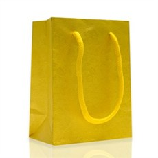 Rope Handled Gift Bags Yellow