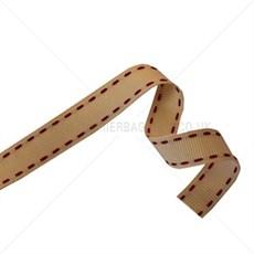 Cream Stitched Grosgrain Ribbon [14]