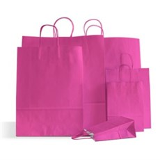 Magenta Premium Italian Paper Carrier Bags with Twisted Handles