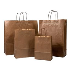 Chocolate Brown Premium Italian Paper Carrier Bags with Twisted Handles