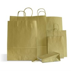 Gold Paper Carrier Bags with Twisted Handles