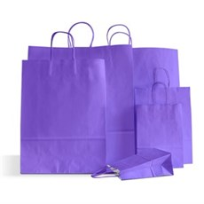 Lilac Premium Italian Paper Carrier Bags with Twisted Handles