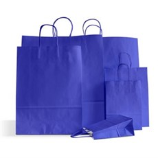 Ocean Blue Premium Italian Paper Carrier Bags with Twisted Handles