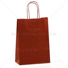 Scarlet Red Premium Italian Paper Carrier Bags with Twisted Handles