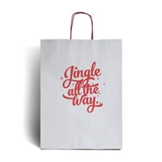 Jingle and Snow Design Paper Carrier Bags