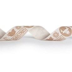 Brown Motif Christmas Design Ribbon [4]