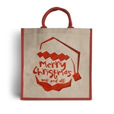 Santa Claus Is Coming Jute Bag For Life