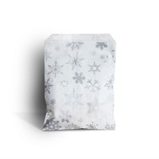 Silver Snowflake Paper Christmas Counter Bags
